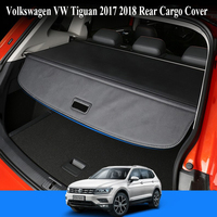 For Volkswagen VW Tiguan 2017 2018 Rear Cargo Cover privacy Trunk Screen Security Shield shade (Black, beige) Auto Accessories