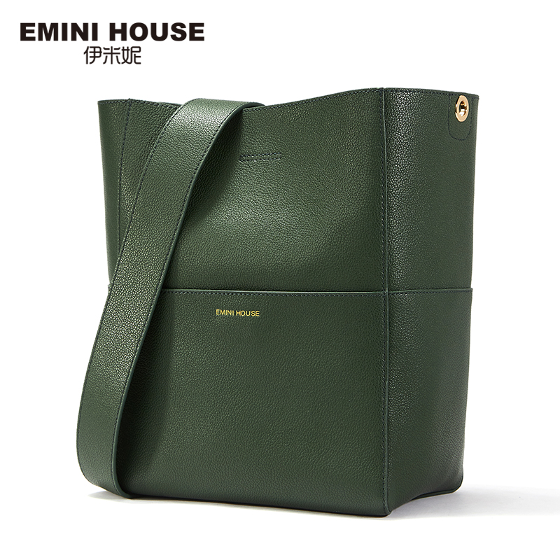 EMINI HOUSE Split Leather Tote Bag Shoulder Women Messenger Bags Ladies Leather Handbags Magnetic Buckle Crossbody Bags For Lady emini house tote bag genuine leather women messenger bags shoulder bag handbag women famous brands crossbody bags for lady