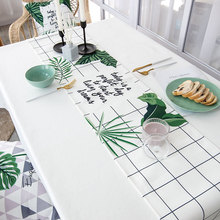 Nordic Style Plant Deisgn Multifunction Table Runner 1pcs Home Art Thicken Table Runners Dinner Piano TV Stand Runners 8 Colors цена и фото