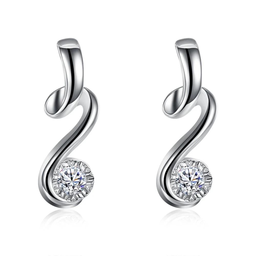 gorgeous silver women cyrstal Wedding Earring Stud jewelry Cute jewelry  fashion nice Couple gift hot sale E10