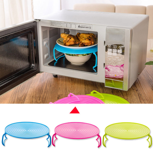 Folding Microwave Oven Bowls Rack Cover Dish Plate Holder Insulated Double Layer & Folding Microwave Oven Bowls Rack Cover Dish Plate Holder ...