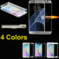 2016 NEW 9H 0.26mm 3D Curv Full Cover Tempered Glass Screen Protector sFor Samsung Galaxy S7 Edge  Hard Front Film