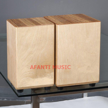 Afanti Music Zebrawood / Birch Wood / Natural Cajon Drum (KHG-122)