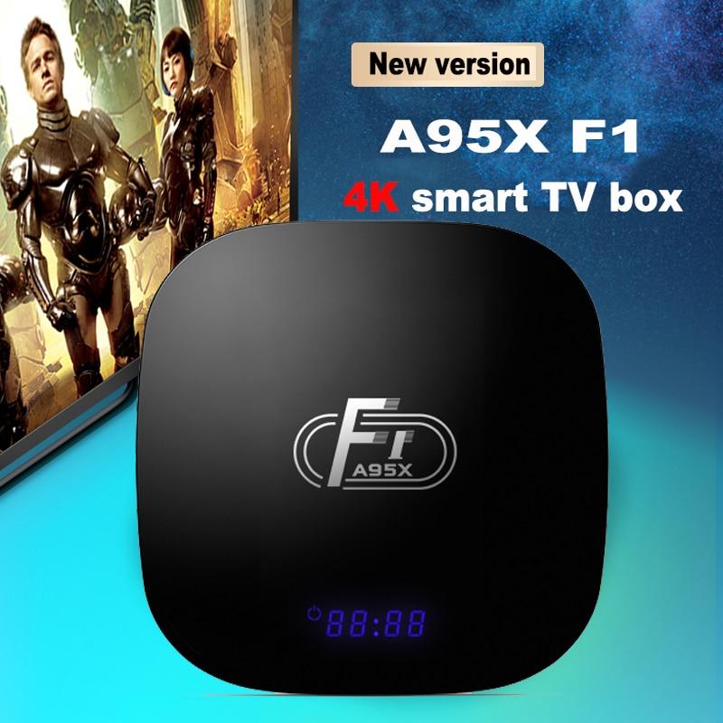 Bright A95x F1 Smart Tv Box Android 8.1 Amlogic S905w Quad Core 4k 2gb 16gb Led 2.4ghz Wifi Media Player Box Pk Mi X96 Mini Set Top Box Large Assortment Tv Receivers
