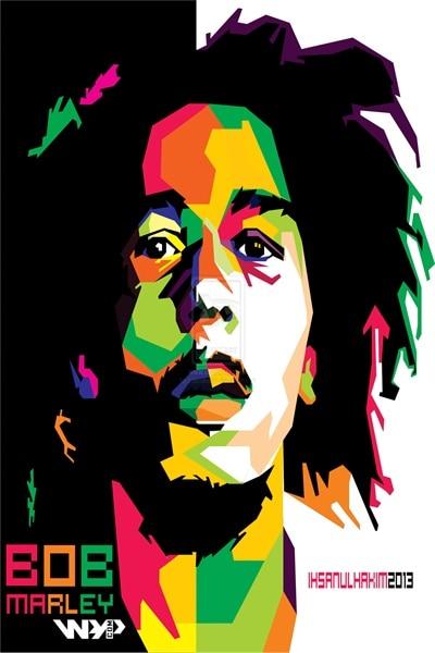 Custom Bob Marley Poster Painting Art Style Home Decor Retro Music Star Wallpaper 20x30inch BOB MARLEY