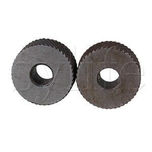 2pcs Positive & Negative Knurling Tool Diagonal Knurl Wheel 1mm Pitch