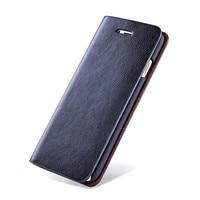 Caja Del Teléfono Del Cuero genuino Para Samsung Galaxy Note 3/Nota 4/Nota 5 Con Ranuras para Tarjetas Tirón Cubierta de La Carpeta para la Galaxia S3 S4 S5 caso