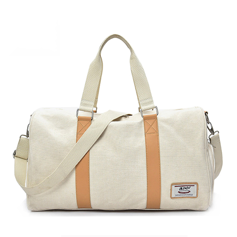 Casual Canvas Sport Gym Yoga Bag For Women\\'S Fitness Duffel Bag Waterproof Travel Tote Crossbody Handbag Outdoor