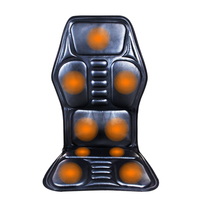 Heat Vibrate Cushion Back Neck Massage Electric Car Home Office Seat Massager Heated Back Massage Seat Topper Chair Massage
