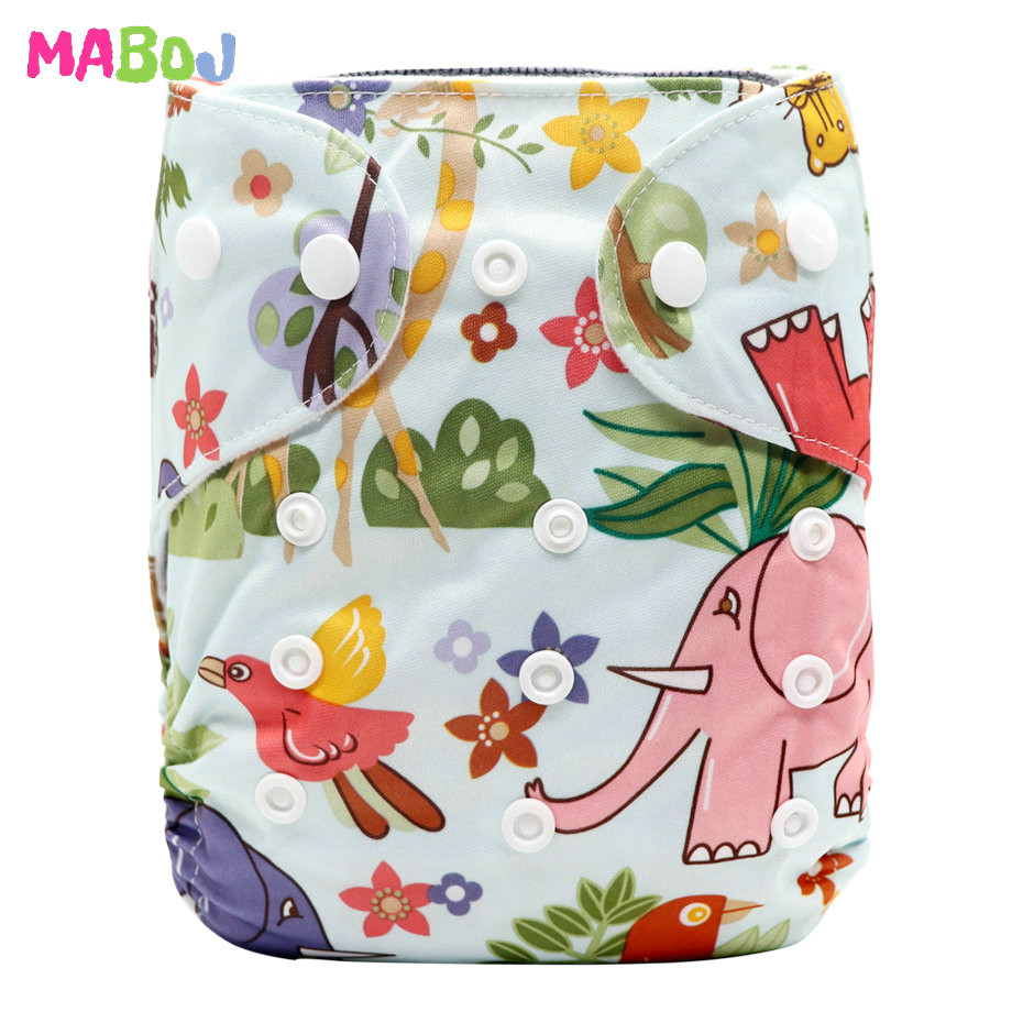 MABOJ Diaper Baby Pocket Diaper Washable Cloth Diapers Reusable Nappies Cover Newborn Waterproof Girl Boy Bebe Nappy Wholesale - Цвет: PD5-5-9