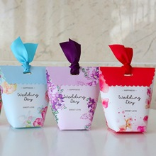 50 Pcs wedding bags candy Boxes gift box party boxes Wedding Candy Box MARRIAGE Favors SWEETS BAG