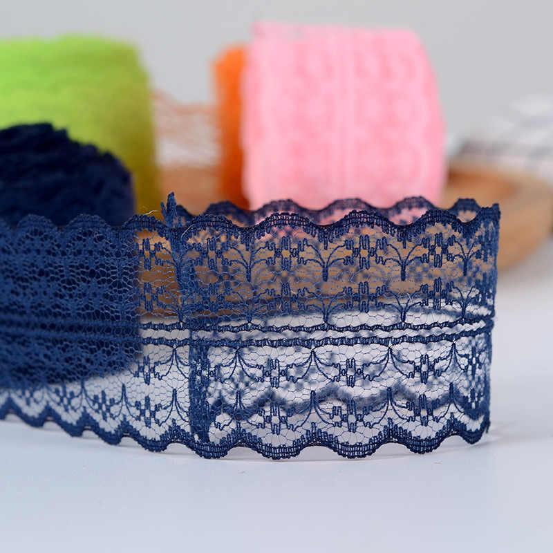 4.5 センチメートルカラフルなレースリボンテープ DIY 手作りアパレル縫製 & 生地素材工芸用品白黒青レーストリミング