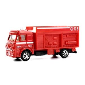 Image 4 - 6 סוגים Diecast אש משאית מיני סגסוגת Glide רכב דגם צעצועי פלסטיק כלי רכב צעצועי מסוק סירת מרוץ מתנות עבור בני ילדים משחק