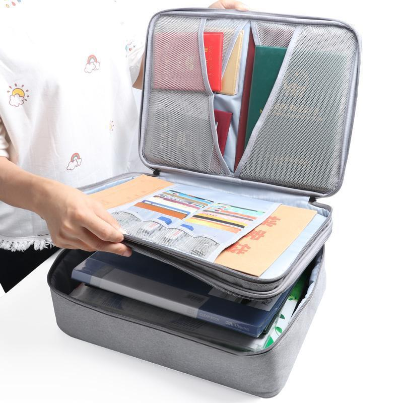 Travel Accessories Passport Package Card Covers Document Ticket Bag Large Capacity Certificates Files Organizer For Home Travel