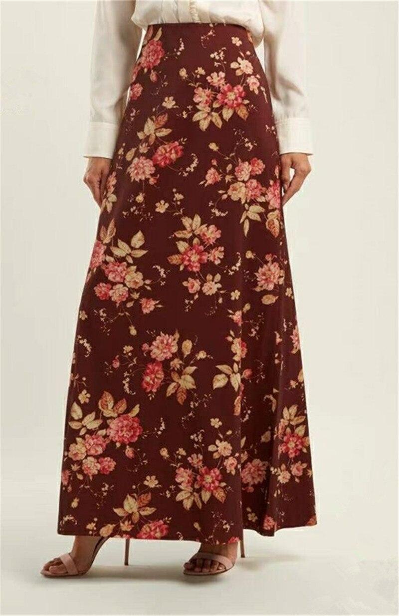 2019 X289 Femmes A Arrivent Jupe Picture Nouveau Imprimer Jupes Printemps Cheville As Longueur ligne qrqPfgTx