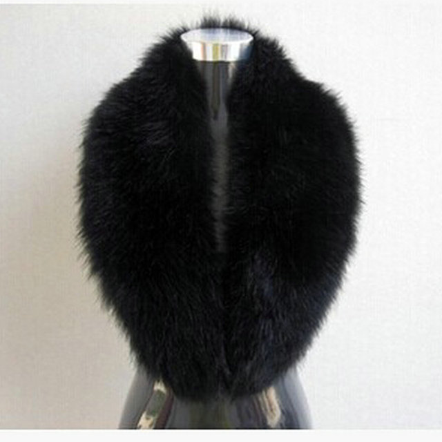 Free shipping 2014 fakes fox fur collar raccoon fur collar wool top cap dickie shawls imitation fur scarf