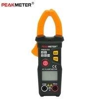 PEAKMETER PM2016A Digital Clamp Meter Multimeter 6000 Counts Portable Handheld Data Hold AC DC Voltage Resistance