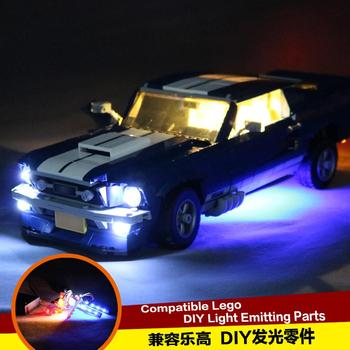 Led light Kit for 21047 Creator Expert Ford Mustang Building Block Compatible With 10265 image