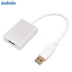 kebidu 5Gbp Input USB 3.0 to HDMI Output Graphic Adapter for MAC HDTV Projector Display PC Laptop Notebook 1080P Cable Converter
