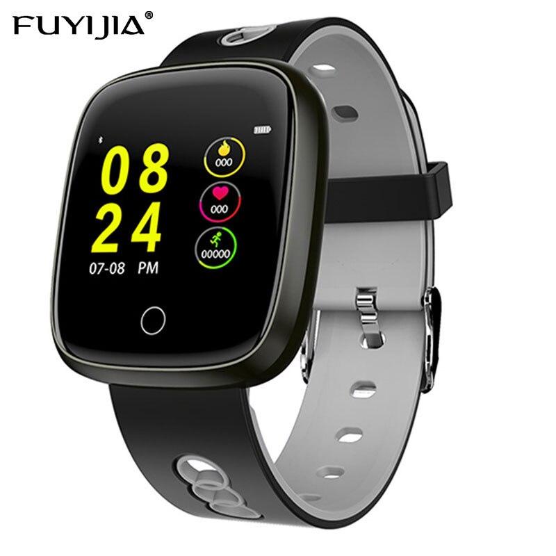 FUYIJIA 2019 nouveau rappel intelligent homme montre fréquence cardiaque montre intelligente hommes femme montres sport étanche horloge Bluetooth Android IOS