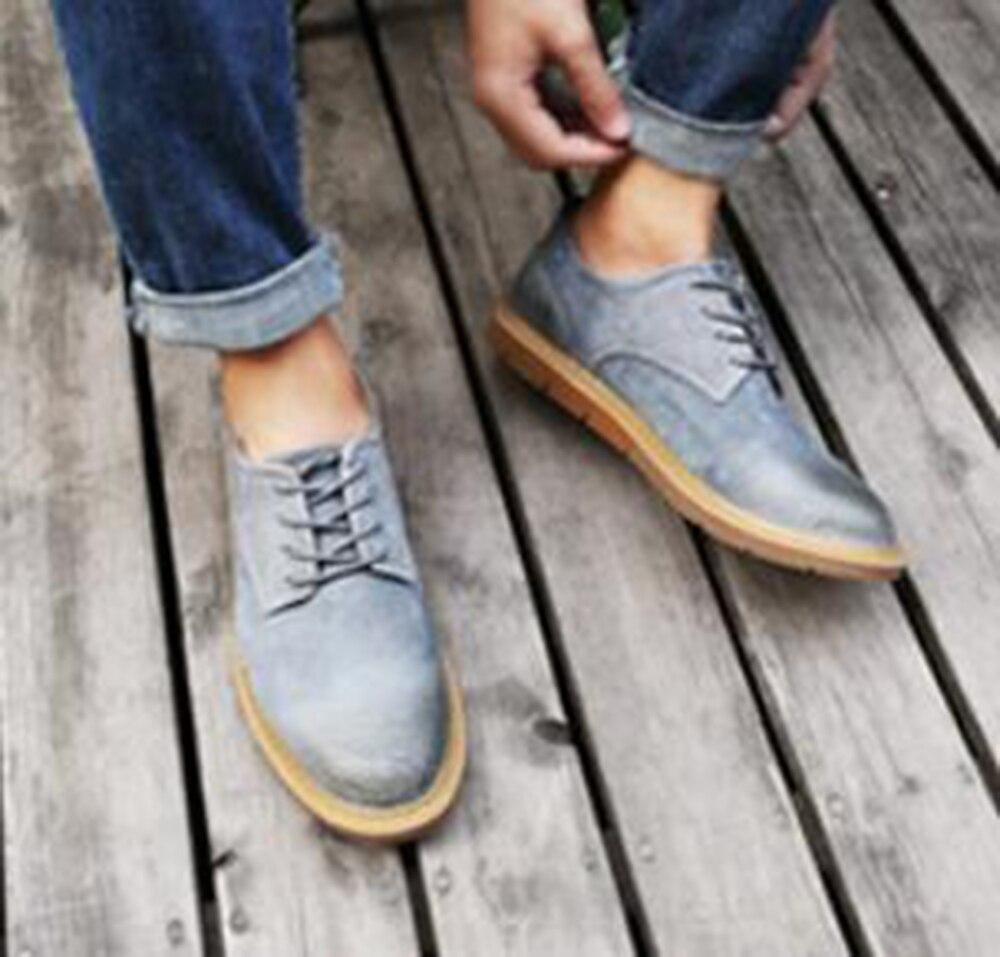 Gut Männer Frauen Casual Schuhe Echtes Leder Britischen Stil Zurück Samt Männer Der Schuhe Runde Nizza Große Männer Casual Junge Männer Der Martin Schuhe