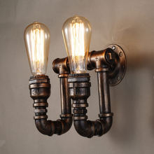 American Village Loft Industrial Edison Style Vintage Wall Light Lamp Retro Water Pipe Lamp Wall Sconce(China)