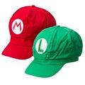New Super Mario Bros Аниме Косплей Дети Взрослых Бейсболки Луиджи L Марио М Cap 2 Цвета с Подкладкой