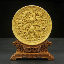 цены на Decoration of  Boxwood Carving arts and crafts home furnishings gift hole saints home furnishings handmade artwork в интернет-магазинах