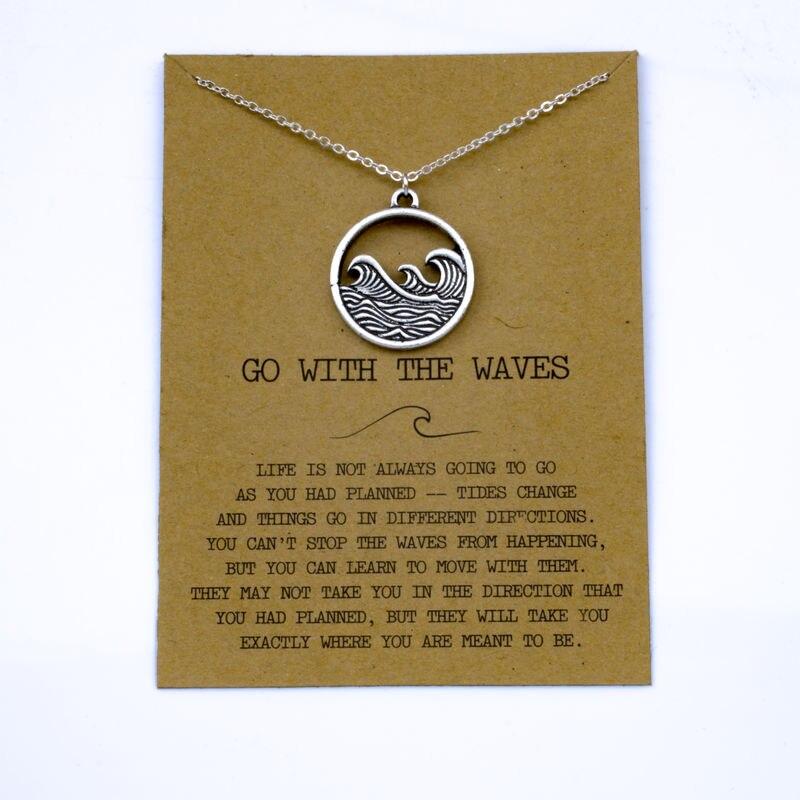 """SanLan 1 шт идут в комплекте ожерелье с подвеской """"волны"""" Океан ювелирные изделия - Окраска металла: 08"""