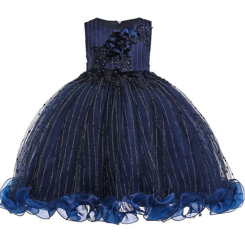 2019 first communion   dress   princess prom party clothing elegant   flower     girls     dress   formal birthday   dress   baby costume L5101