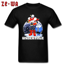 Undertale Papyrus Sans Funny Game Print T Shirt RPG Toriel Video Graphic Mens Tshirts Street Tee-Shirts Drop Shipping