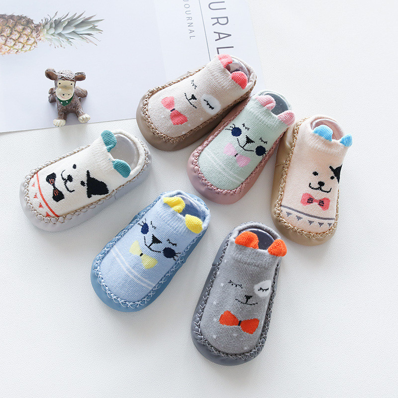 Newborn Baby Socks With Rubber Soles Infant Baby Girls Boys Autumn Winter Children Floor Socks Shoes Anti Slip Soft Sole Sock