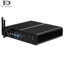 Kingdel последним безвентиляторный Мини-ПК INTL 6th поколения Процессор i7 6500U настольный компьютер 1 * DP 1 * HDMI, Wi-Fi