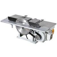 220 В 2500r/мин многоцелевой деревообработка пилы Desktop электрический 120A деревянный строгальный станок с подложкой и 1.3KW двигатель