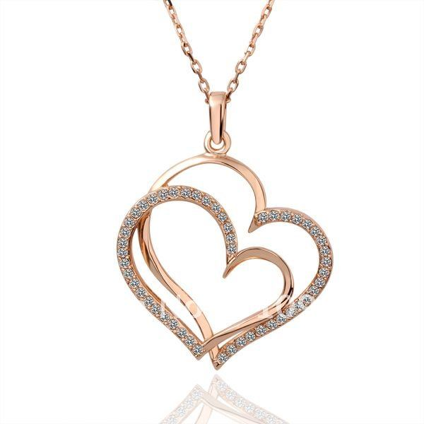 Free shipping18K Rose gold jewelry wholesale Rhinestone Crystal
