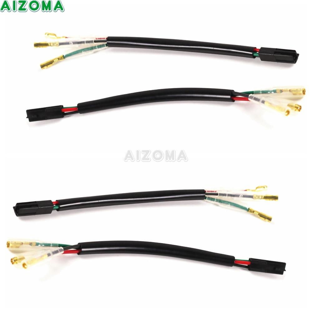 4x Motorcycles Turn Signal Light 3 Pin Wire Adapter Plug Connector Lead For Honda CBR 600RR Honda CBR 1000RR  2003-2014