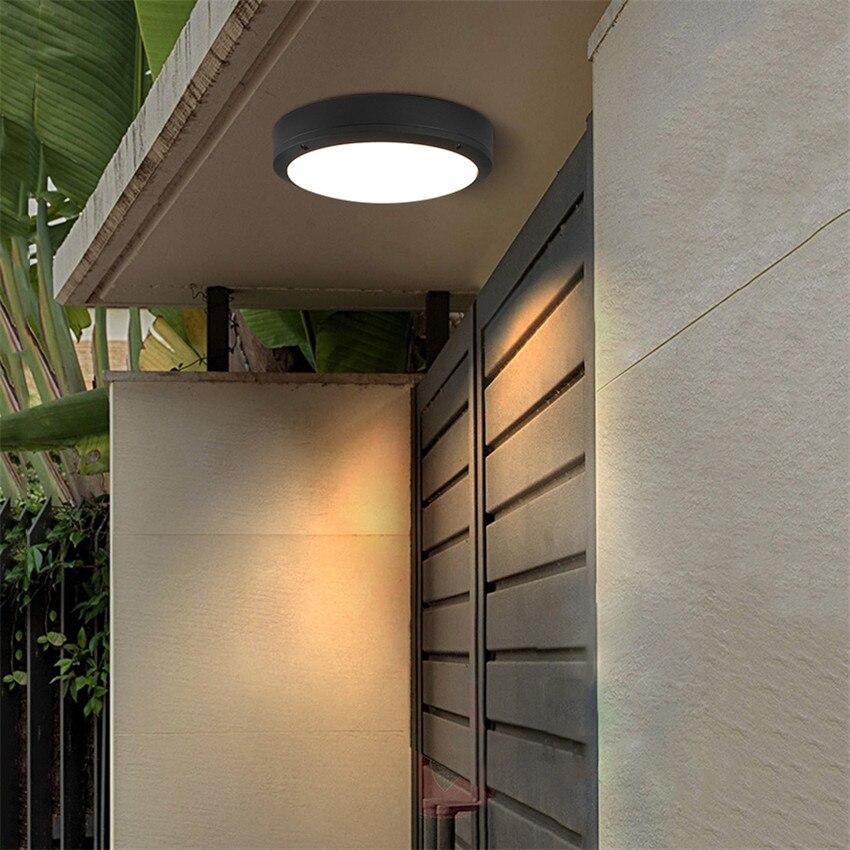 18 Вт светодио дный потолочные круглые Современный простой Атмосфера лампы Гостиная Спальня для балкона двора крыльцо Светильник BL23