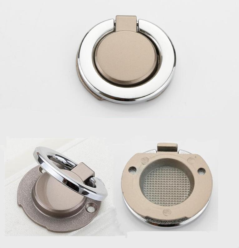 HTB1NN0pLNTpK1RjSZR0q6zEwXXaT - New solid Concealed drawer knob ring round handles Wardrobe Cupboard Door handles for interior doors Pulls Furniture Hardware