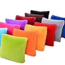 Plush Decorative Pillow Cover Cushions Home Decor Fur Pillow Case 45*45 Bedroom Sofa Kussenhoes Sierkussen capa para almofada цены