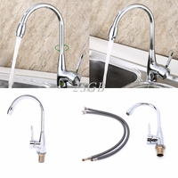 Kitchen Mixer Cold Hot Basin Sink Tap Faucet Chrome 360 Degree Swivel Alloy S15