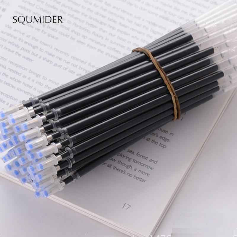 SQUMIDER 10PCS /lot 3 Colors 0.5mm Neutral Gel Pen Refills Needle Bullet Head School Office Supplies