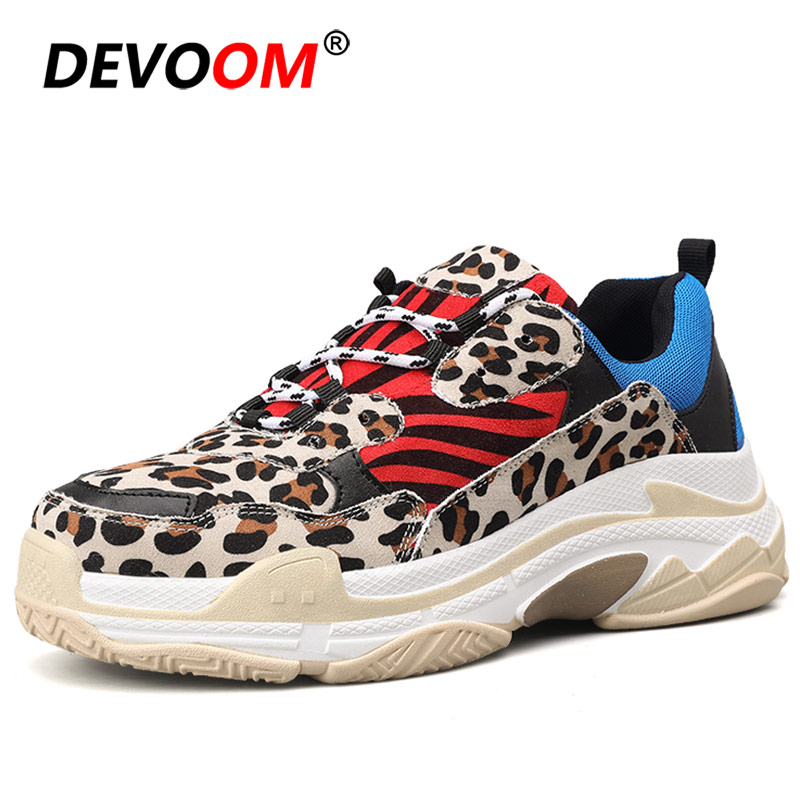New Fashion Leopard Men Sneaker Shoes Comfort Men Summer Mens Trainers 2019 Men Casual Shoes Yellow Zapatillas Deportivas Hombre