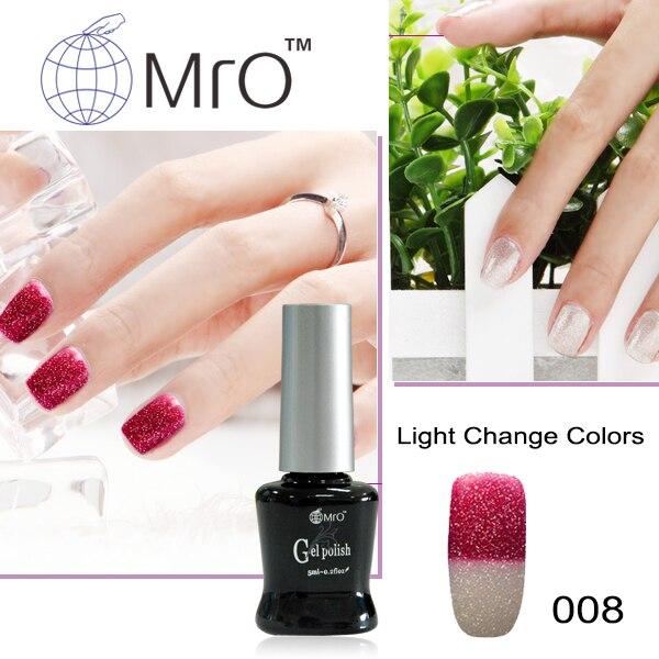MRO 2 pieces Light changeable color unhas de gel nail polish set uv ...