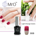 MRO 2 pieces Light changeable color unhas de gel nail polish set uv gel lucky soak off gel nail lacquers vernis a ongle varnish