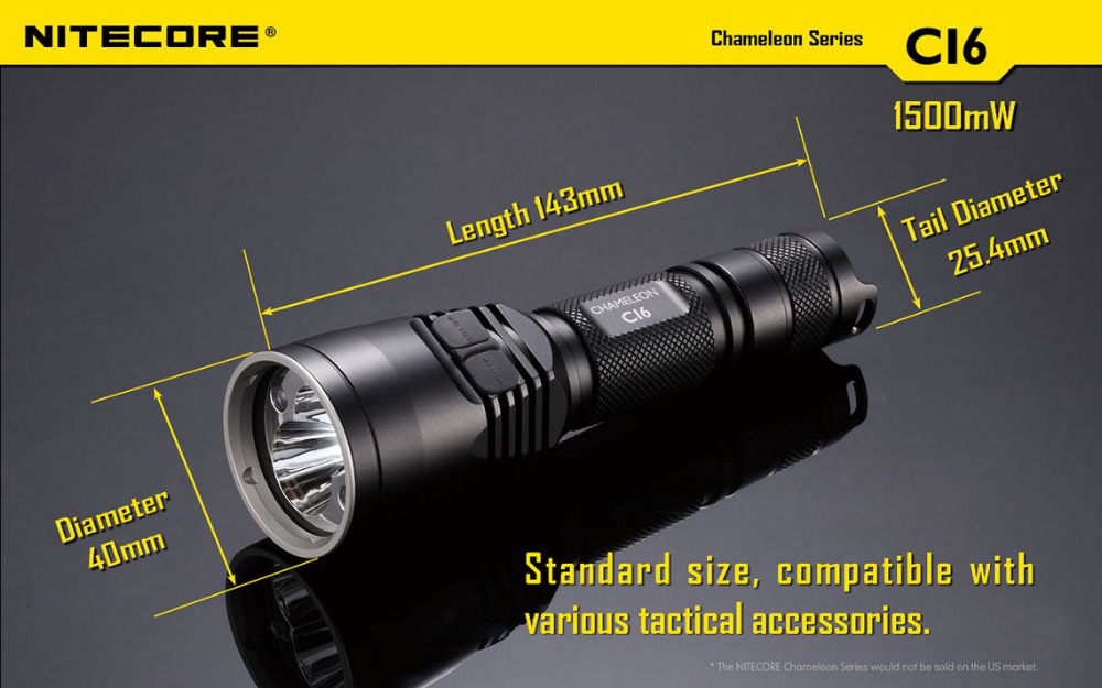 Nitecore Chameleon LED Tactical Flashlight Infra Red White 440 Lumen CI6 NEW without battery xavax xavax infra 150кг стекло