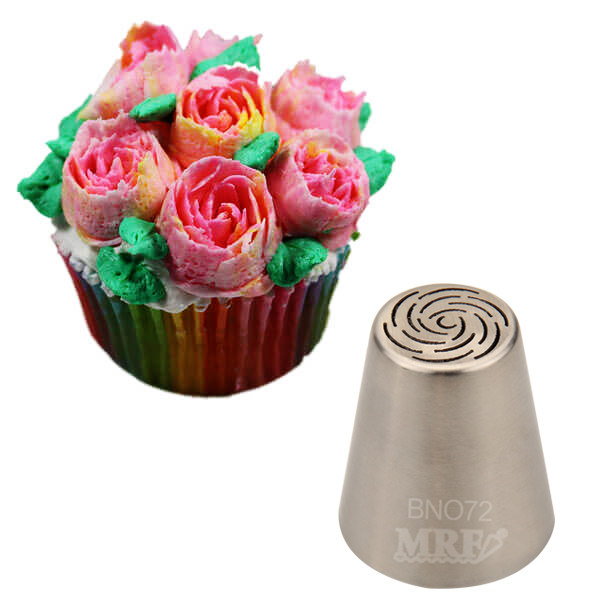 Large Russian Tulip Nozzles Stainless Steel Icing Tips Piping Nozzles Cakes  Cupcakes Cake Tool Decorating Tips#BNO72