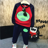 2017 Autumn Baby Boy Tracksuit Children S Letter Printed T Shirt Casual Pants Suits Boys Football