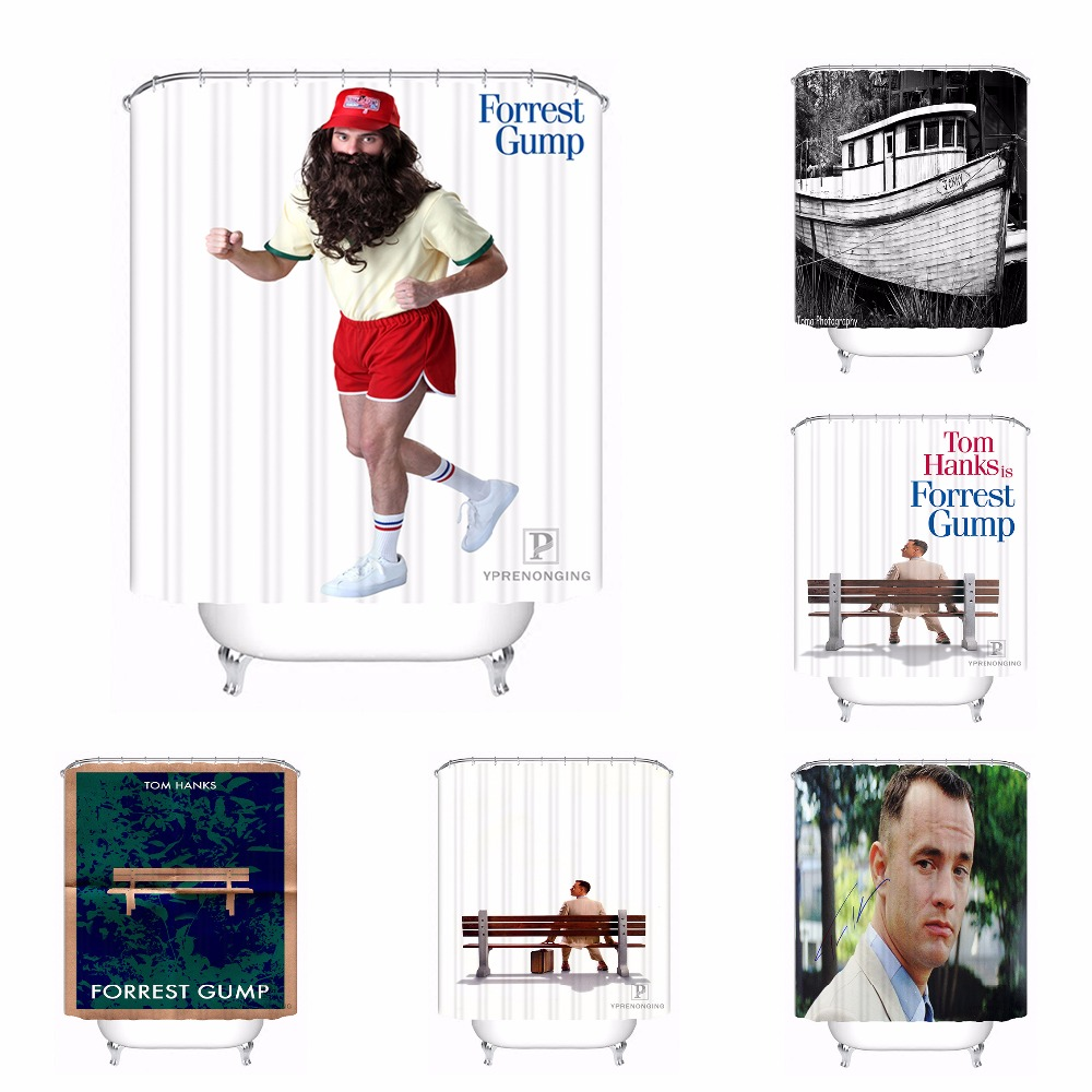 Custom Forrest Gump Bath Curtain Bathroom Mildewproof Waterproof Polyester Shower Curtai ...