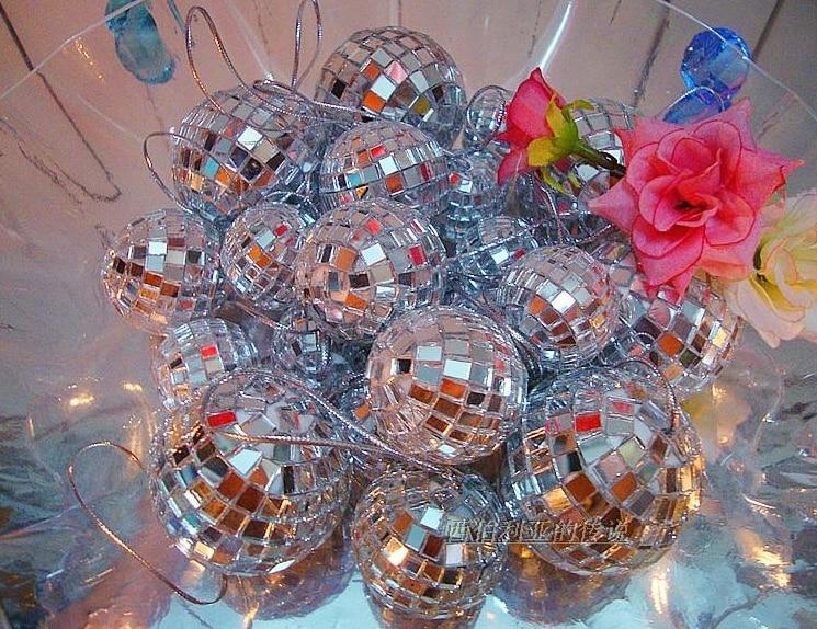 Bola de espejo de cristal de 8 cm bola de navidad bola de billar, - Para fiestas y celebraciones - foto 5