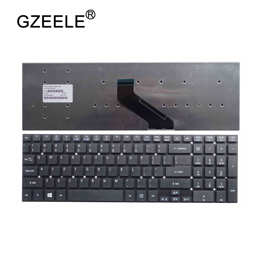 GZEELE New US Laptop Keyboard For Gateway NV55 NV55S NV57H NV75S NV52L NV56 NV57 NV77 US Replace English Notebook Keyboard BLACK